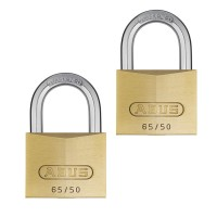 65/50mm Brass Padlock Twin Pack