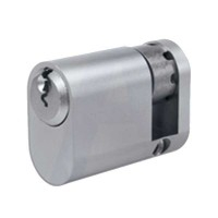 Evva A5 Oval Half Cylinder Nickel Plated