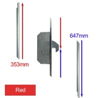Repair Lock Extension UPVC 2 Hook Red