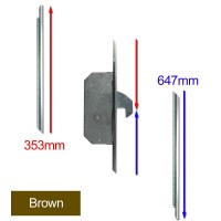 Repair Lock Extension Timber 2 Hook Brown