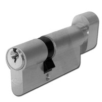 Asec Euro Key & Turn Cylinder 60mm NP