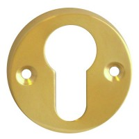 Asec Escutcheon 45mm Euro PB
