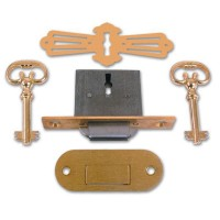 Asec No. 185 4 Lever Roll Top Desk Lock