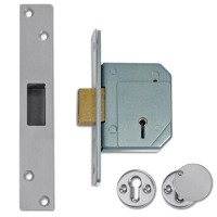 40mm Backset - Satin Chrome