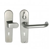 Union 3R35F Door Handle Satin Chrome