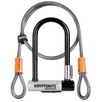 Kryptonite Kryptolok New-U Mini U-Lock With Cable