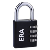 Era Black Combination Padlock 40mm