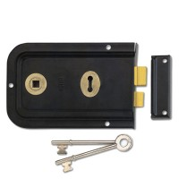 Union 1445 Rim Lock 152mm Black