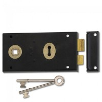 Union 1448 Rim Lock 140mm Black