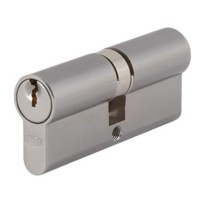 Union 2X18 Double Euro Cylinder Satin Chrome