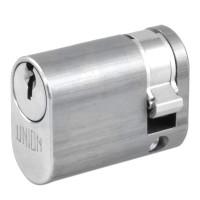 Union 2X8 Oval Single Cylinder Satin Chrome