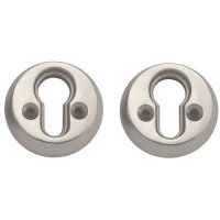 Union Euro Rose Screw Fix Satin Chrome