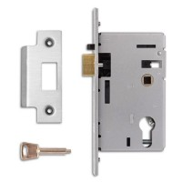 Euro Cyl Nightlatch Case Satin Chrome
