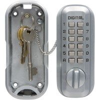 Lockey LKS500 Digital Key Safe Big Satin Chrome