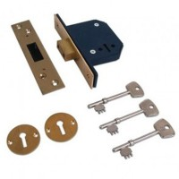 Willenhall M1C Deadlock Polished Brass