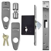 Banham M2002 Mortice Deadlock Polished Chrome