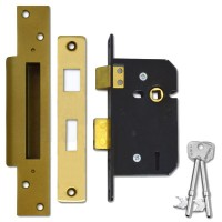 Willenhall M5 Sashlock 64mm Polished Brass
