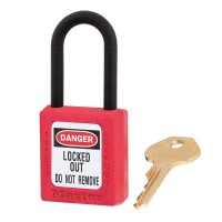 Master Lock 406 Safety Padlock Red