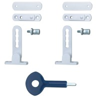 P117 Ventilation Window Lock White x 2