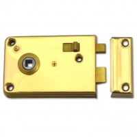 Legge P2143 Rim Latch 108mm Polished Brass