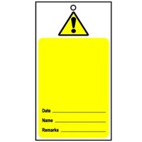 Lockout Tag Disposable Hazard