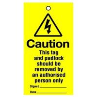 Lockout Tag This Tag And Padlock 100mm