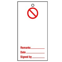 Lockout Tag Prohibition Blank