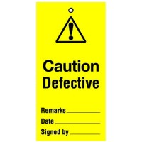Lockout Tag Caution Defective