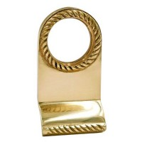 TSS Georgian Rim Cylinder Door Pull Polished Brass
