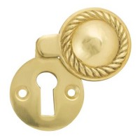 TSS Georgian Covered UK Key Escutcheon Brass