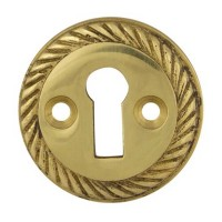 TSS Georgian Open UK Key Escutcheon Brass