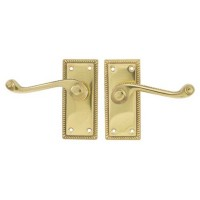 TSS Georgian Scroll Lever Latch Polished Brass