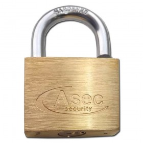 Asec Brass Padlock 40MM MK-BB