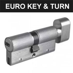 Euro Key & Turn Cylinders