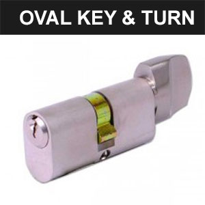 Oval Key & Turn Cylinders