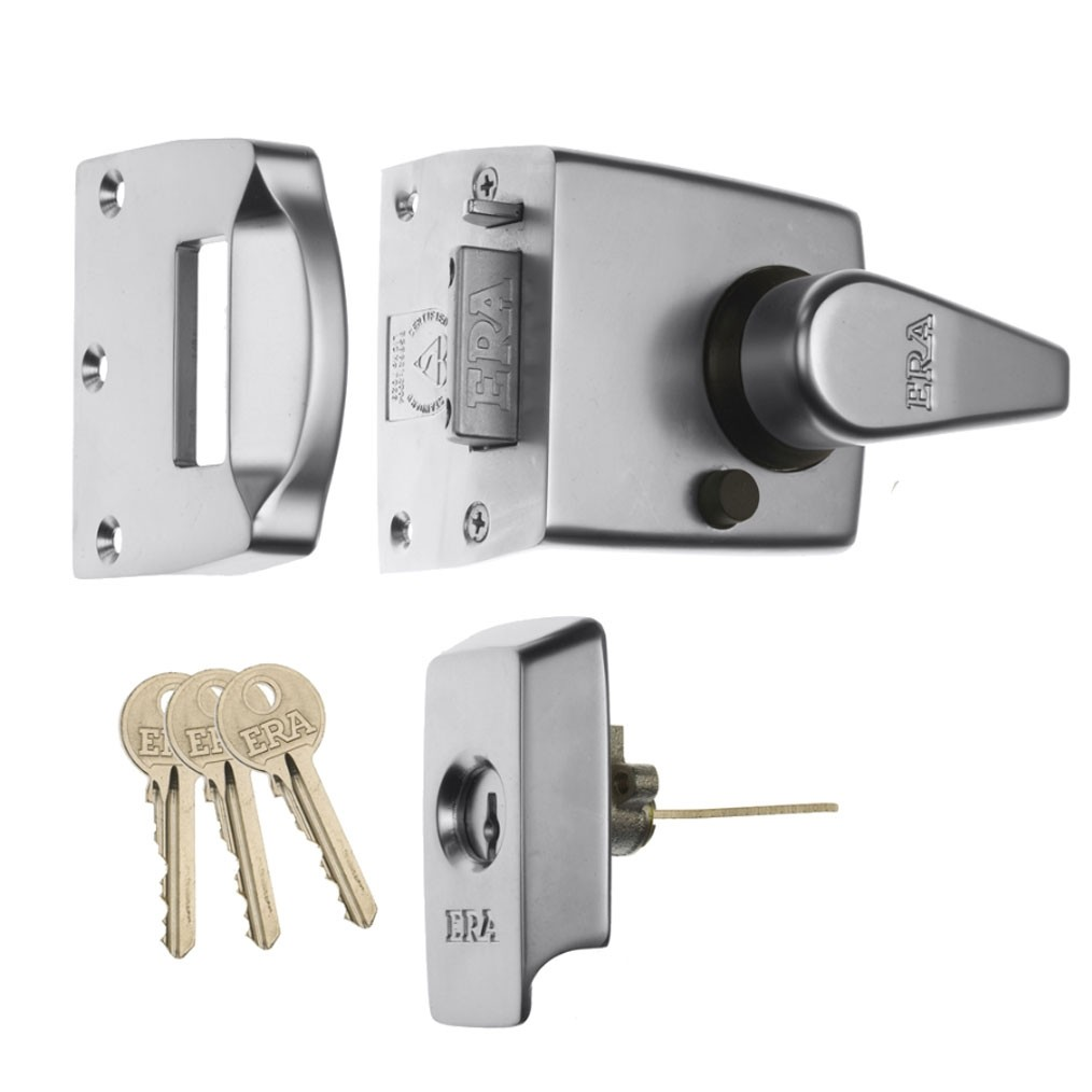 Era BS Keyless Egress Nightlatch 60 Chrome