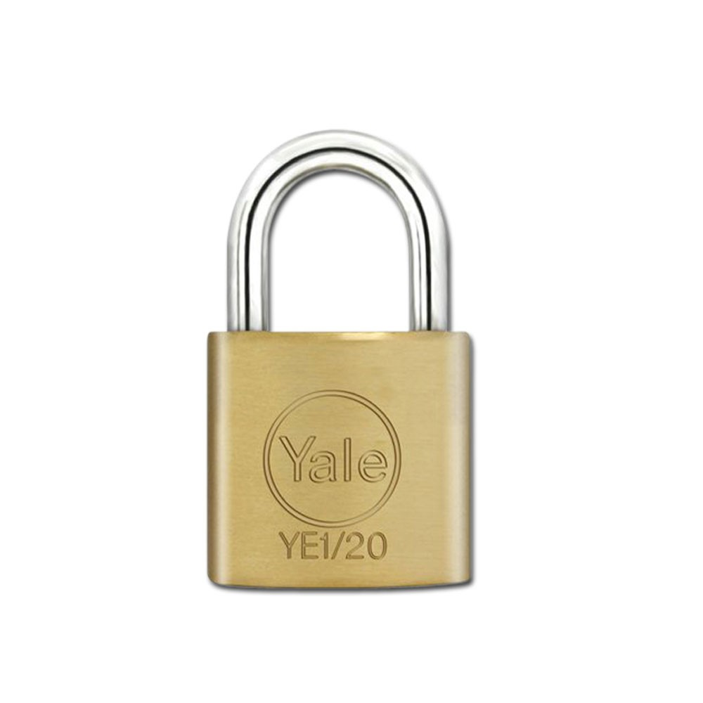 Yale Essential Brass Padlock 20mm KD
