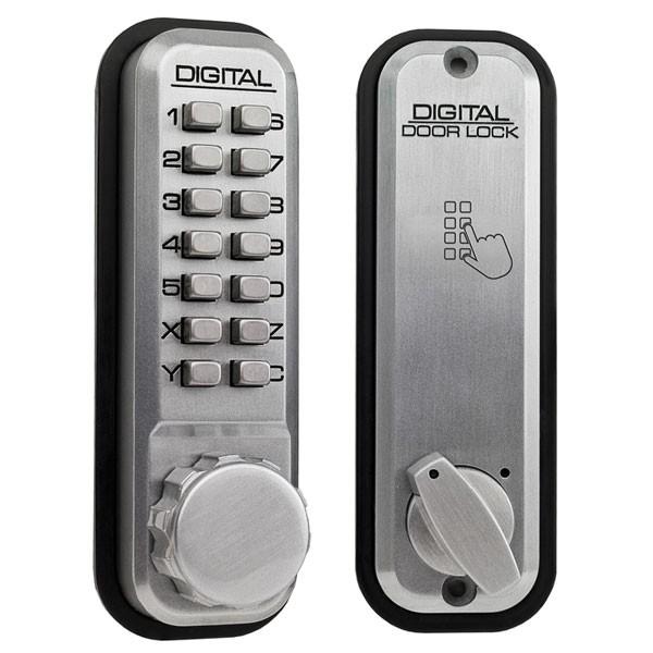 Lockey 2210 Mechanical Digital Lock Satin Chrome