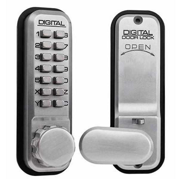 Lockey 2435 Digital Lock Satin Chrome