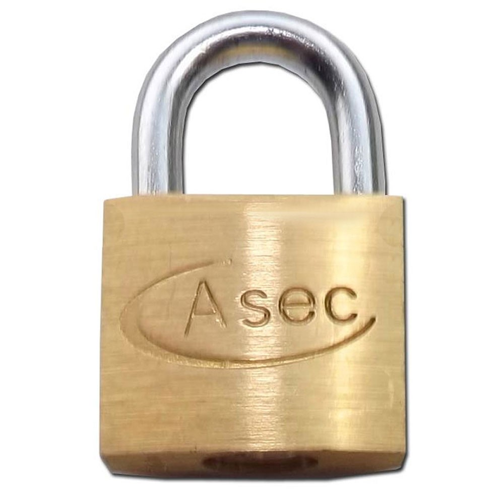 Asec Brass Padlock 25MM