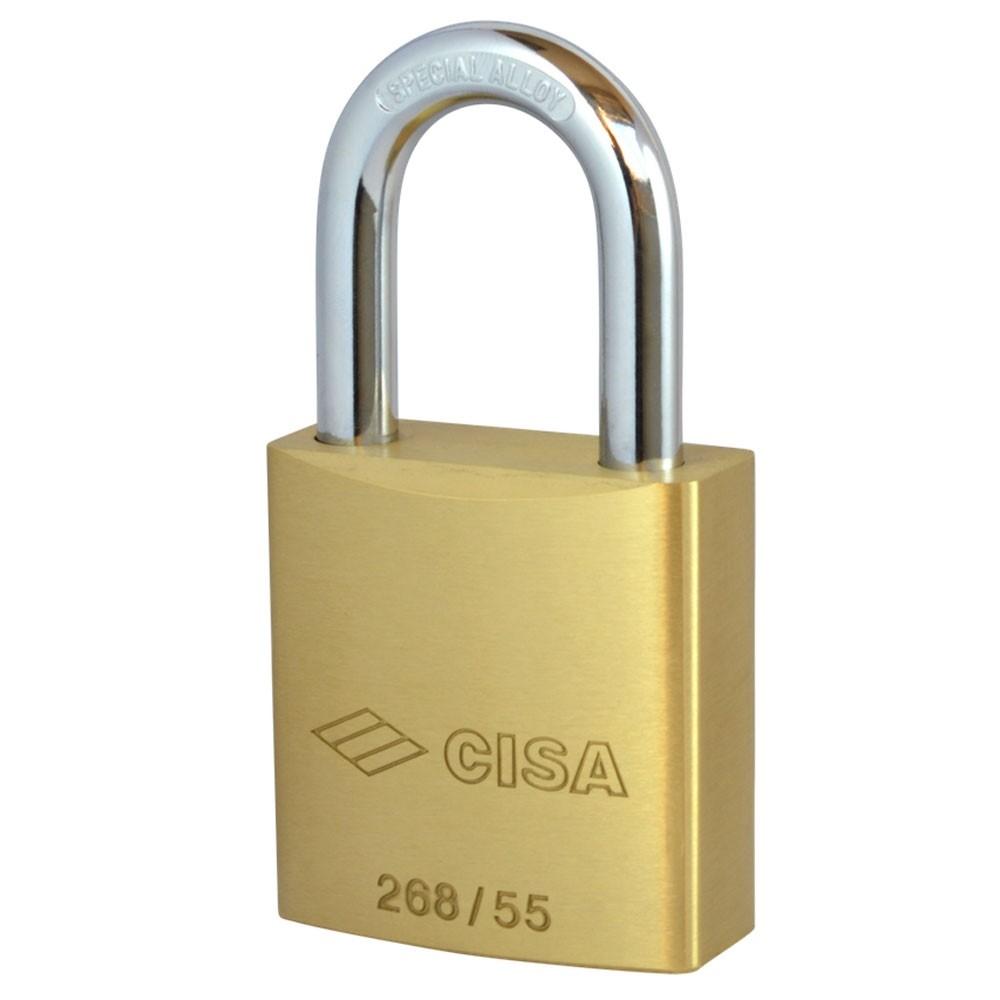 Cisa 268/55 Brass Euro Profile Padlock Body