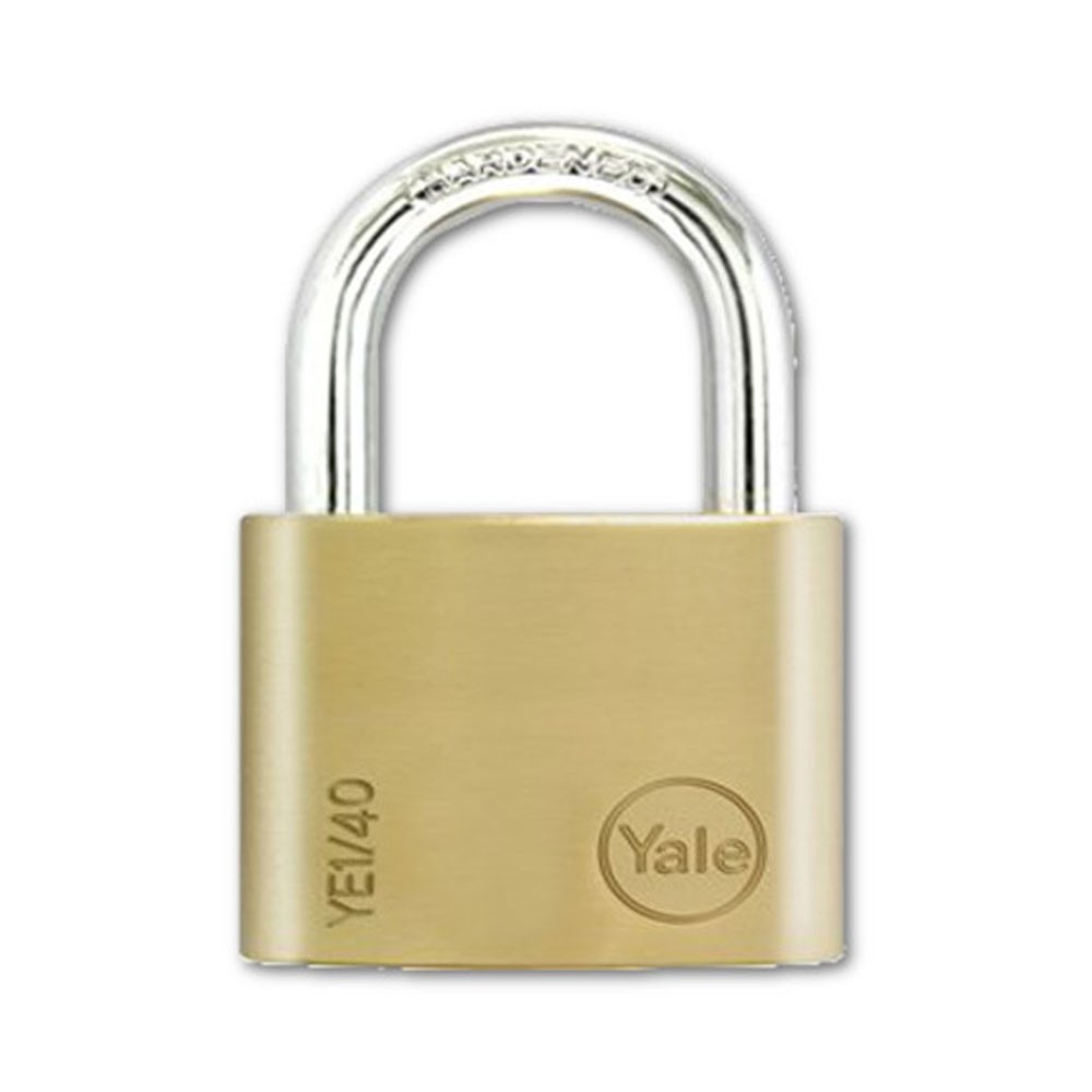 Yale Essential Brass Padlock 40mm