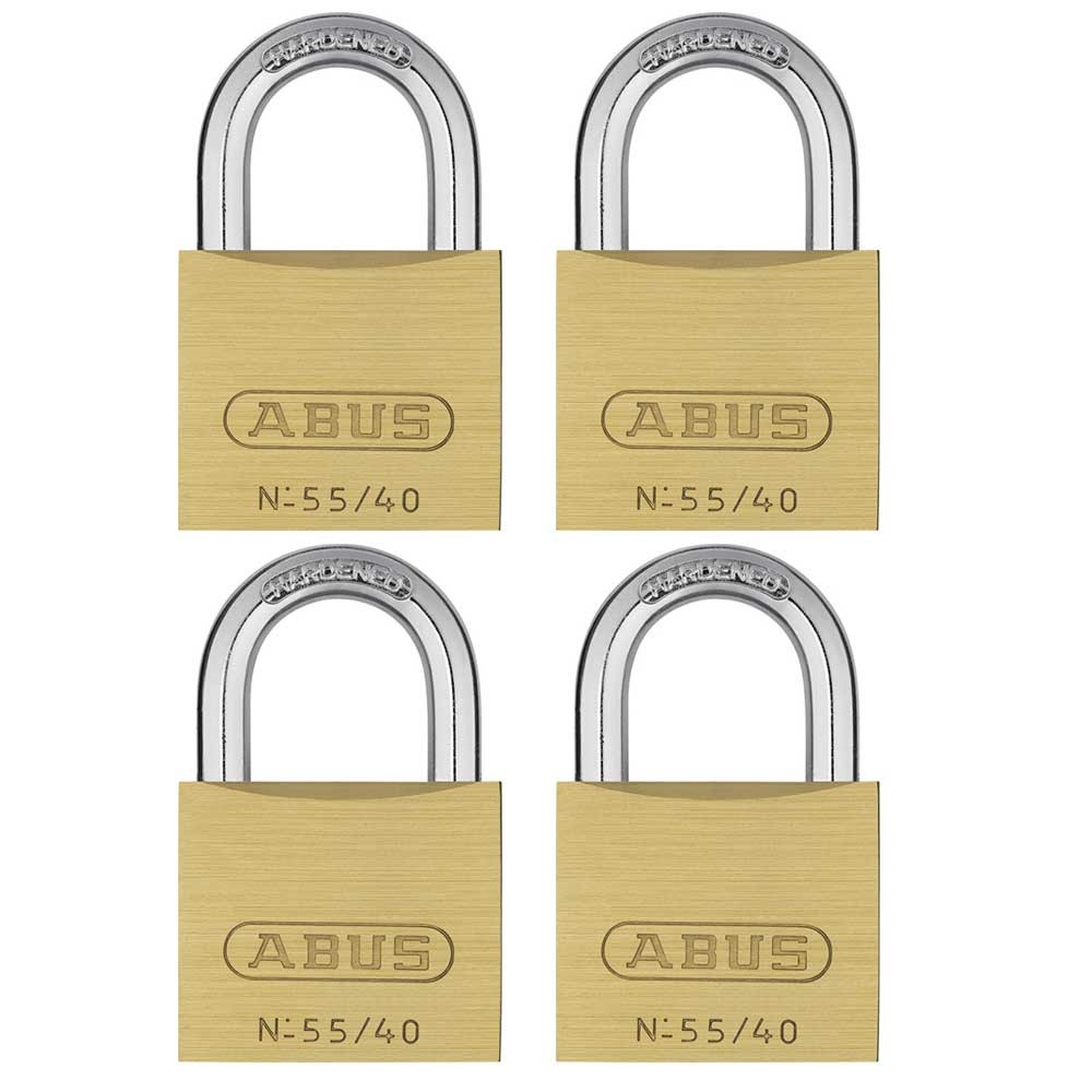 Abus 55/40mm Brass Padlock Quad Pack