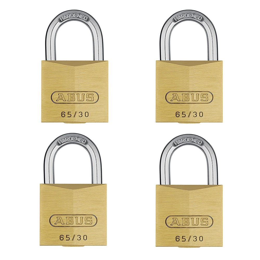 65/30mm Brass Padlock Quad Pack