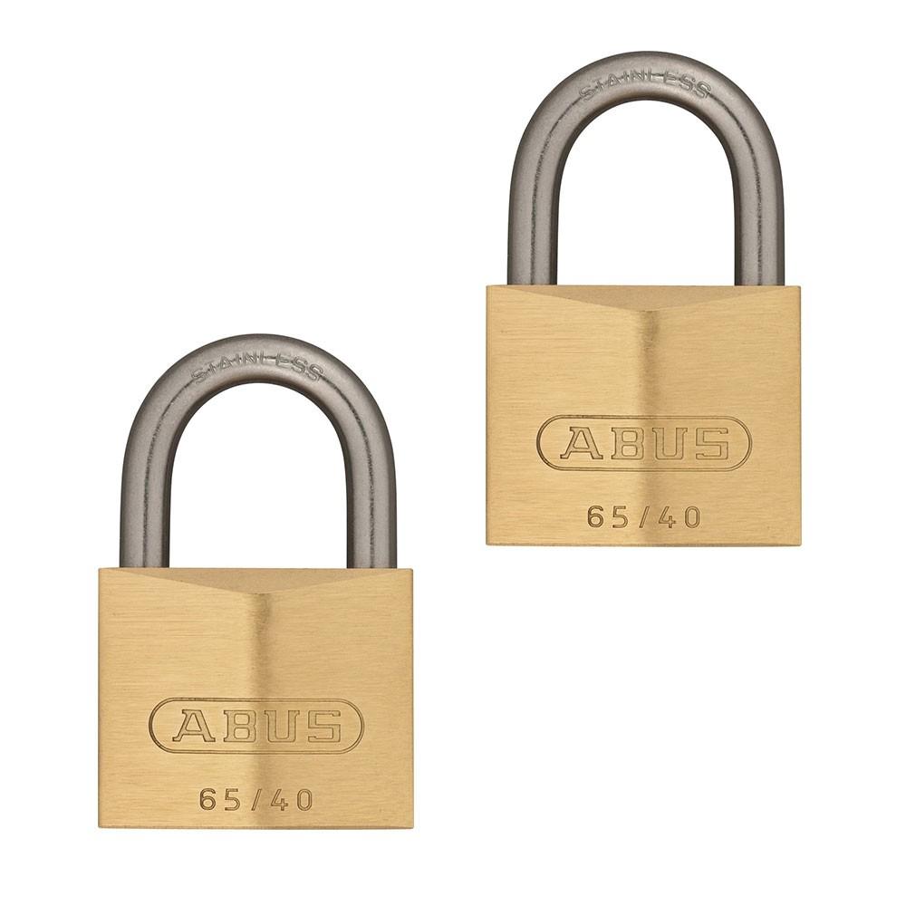 65IB/40mm Brass Padlock Twin Pack