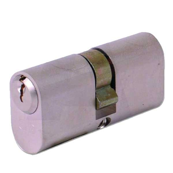 Evva Oval Double Cylinder Nickel Plated