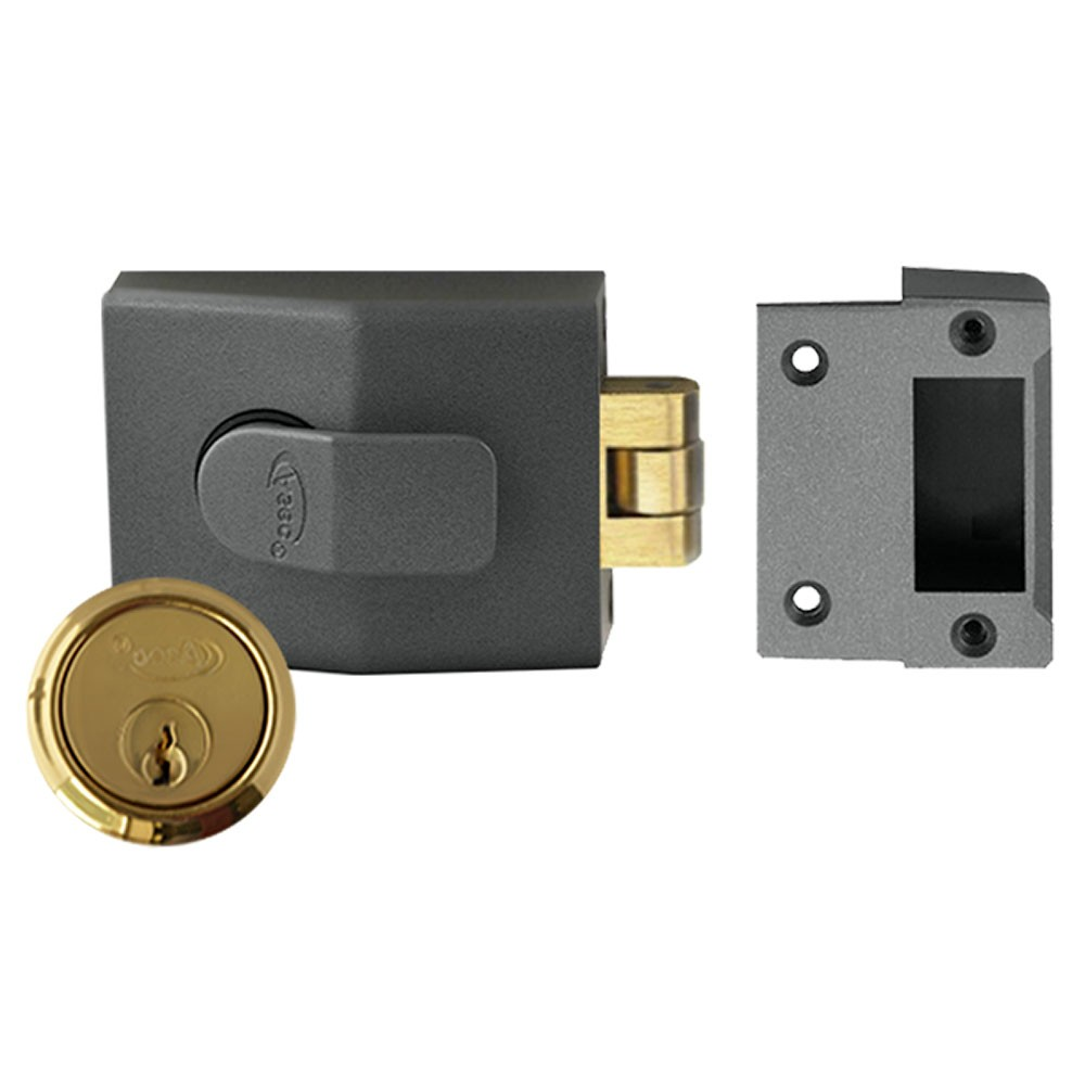 Rollerbolt Nightlatch with Brass Cylinder