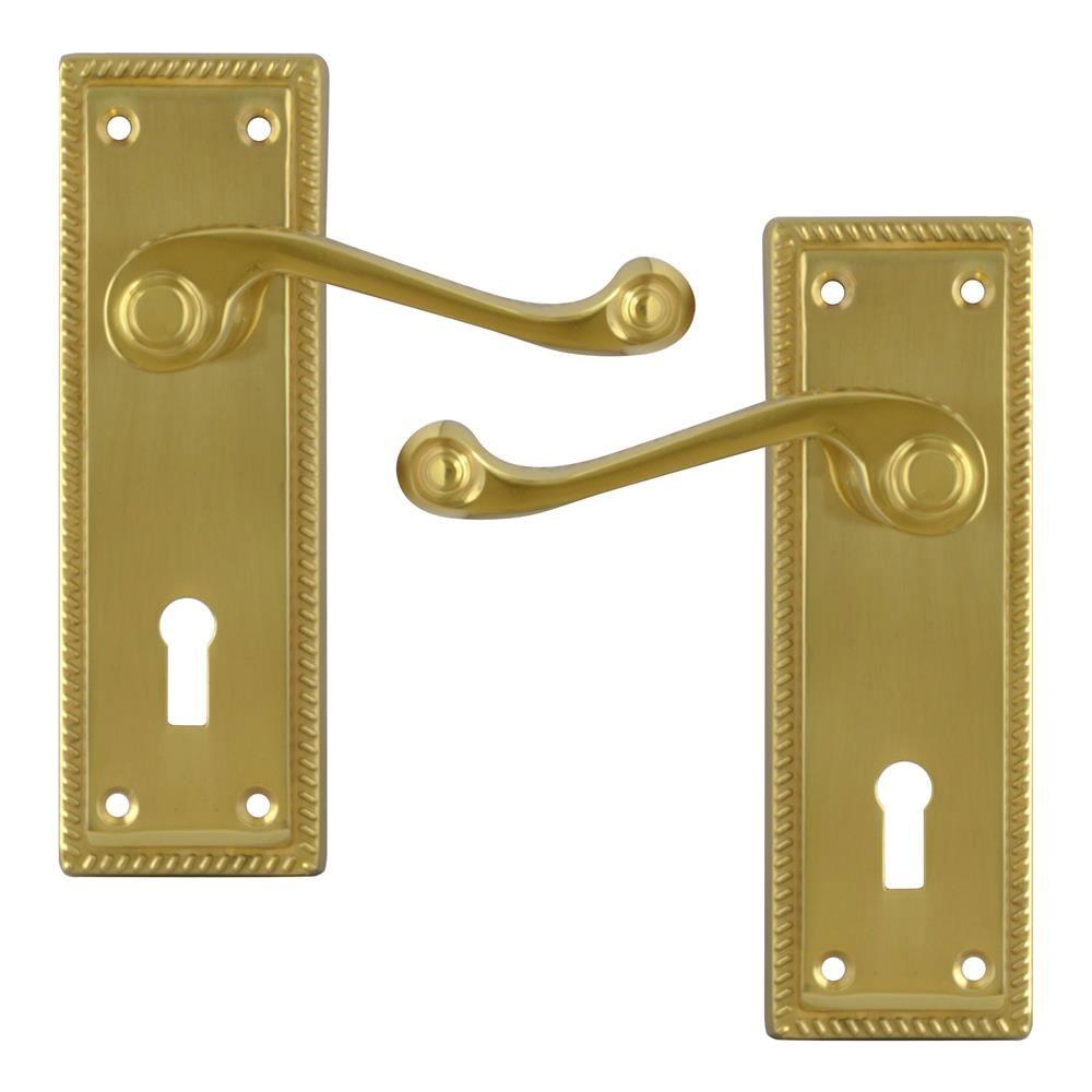 Asec Georgian furniture Lock PB