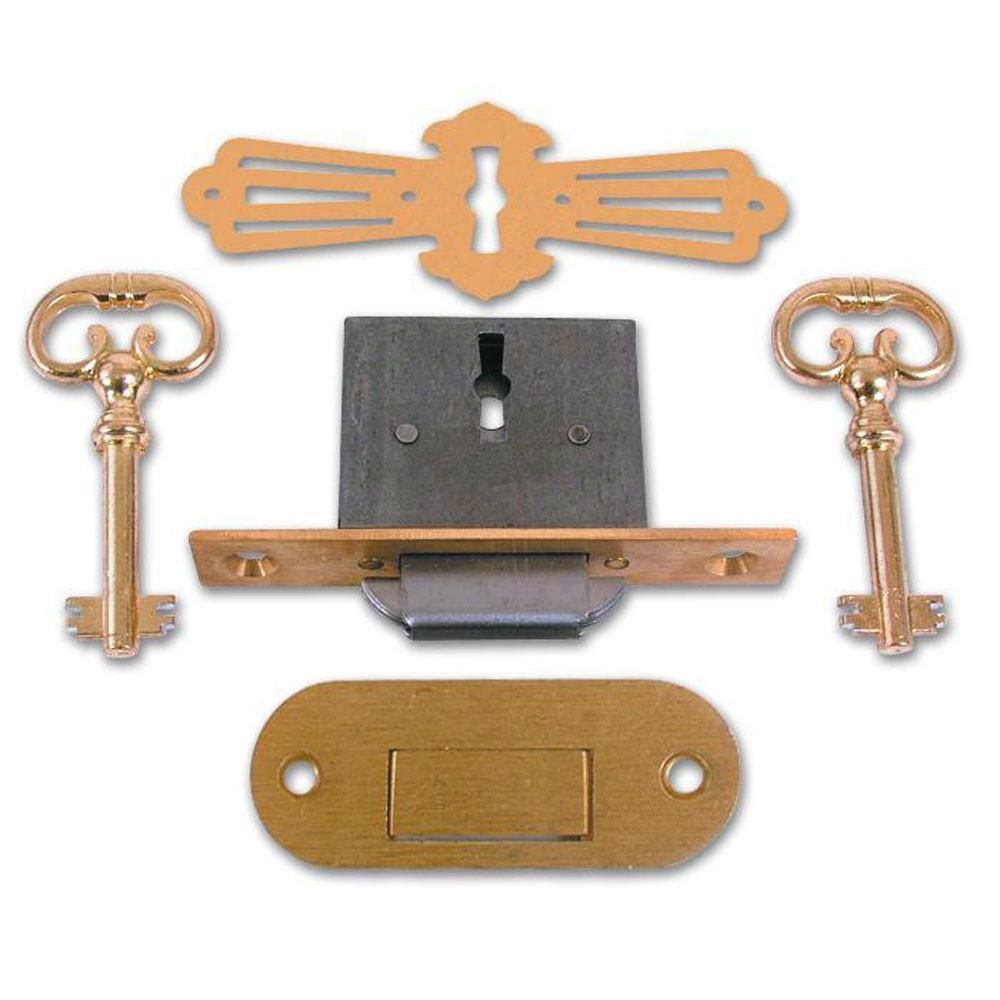 Asec No. 185 4 Lever Roll Top Desk Lock