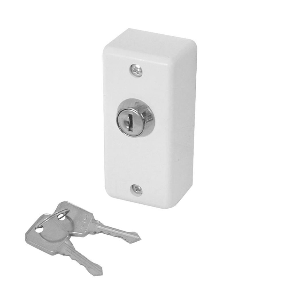 Asec E32 Narrow Style White Key Switch